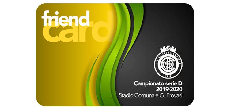 Castellanzese Calcio Abbonamento FRIEND Card stagione 2019-2020