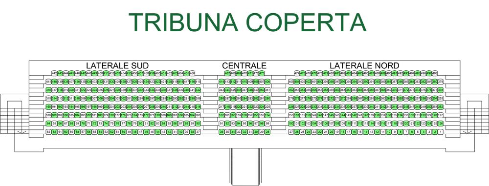 Mappa stadio Provasi COVID Castellanzese Calcio 1921